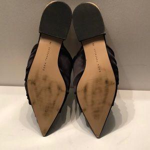 Zara Shoes - Zara trafaluc black satin heeled slides